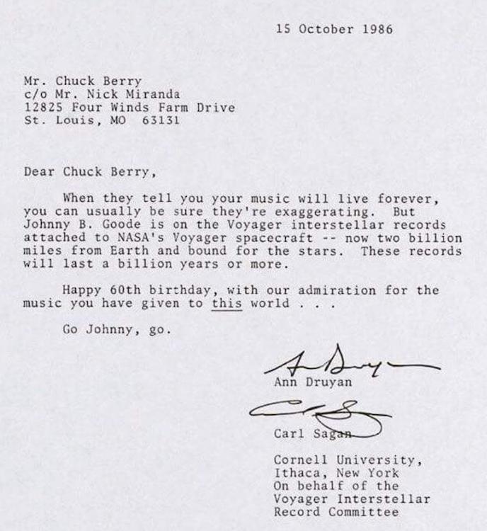 pismo za rodjendan Pročitajte pismo kojim je Sagan čestitao 60. rođendan Čaku Beriju  pismo za rodjendan