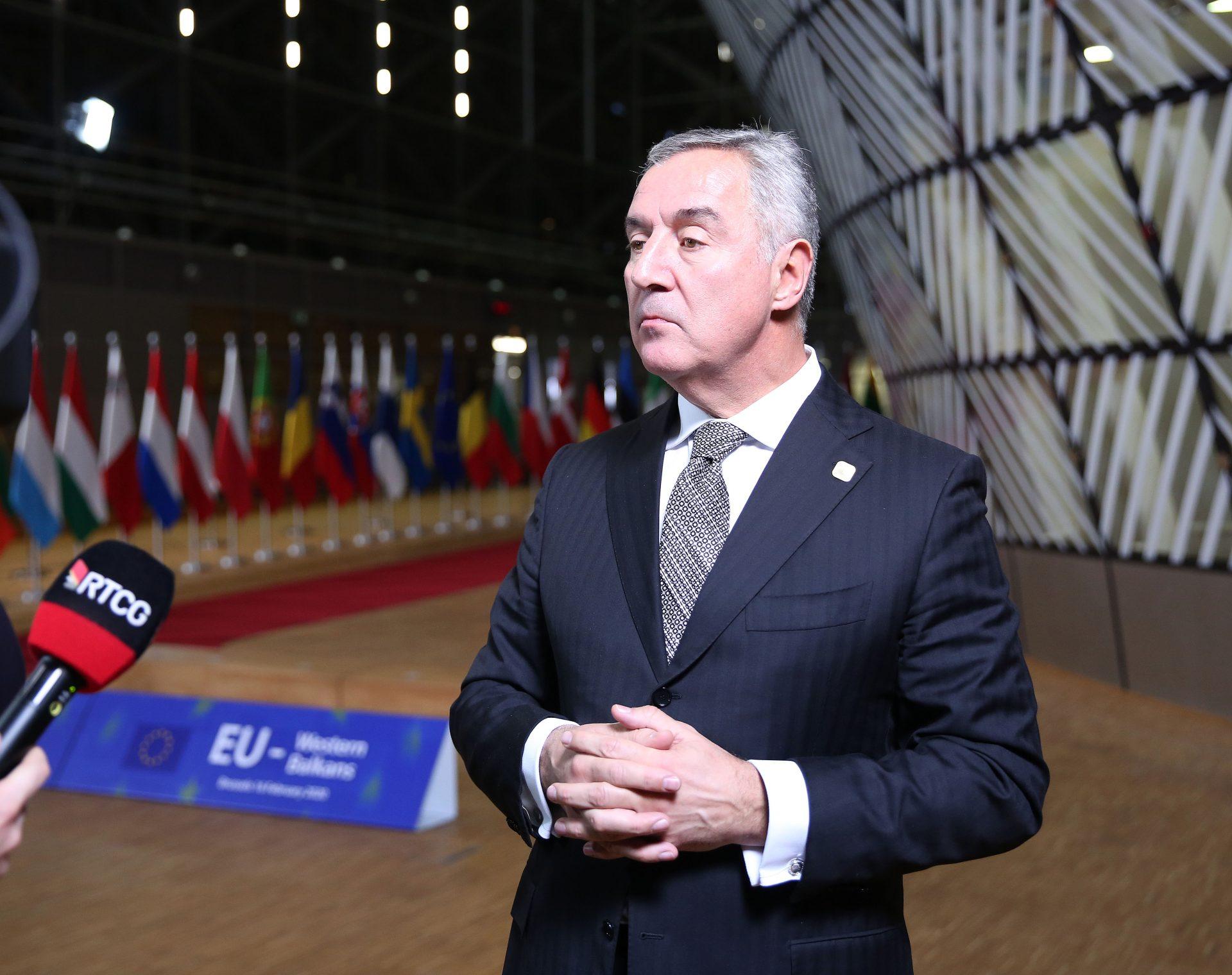 NAKON RADNE VEČERE U BRISELU! Đukanović: Crna Gora je u stanju da sama rješava svoje probleme!