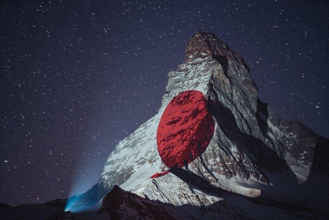 Svake noći druga zastava: Najviši vrh Švajcarske svijetli u znak podrške
