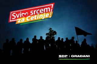 Slogan SDP-a: Svim srcem za Cetinje